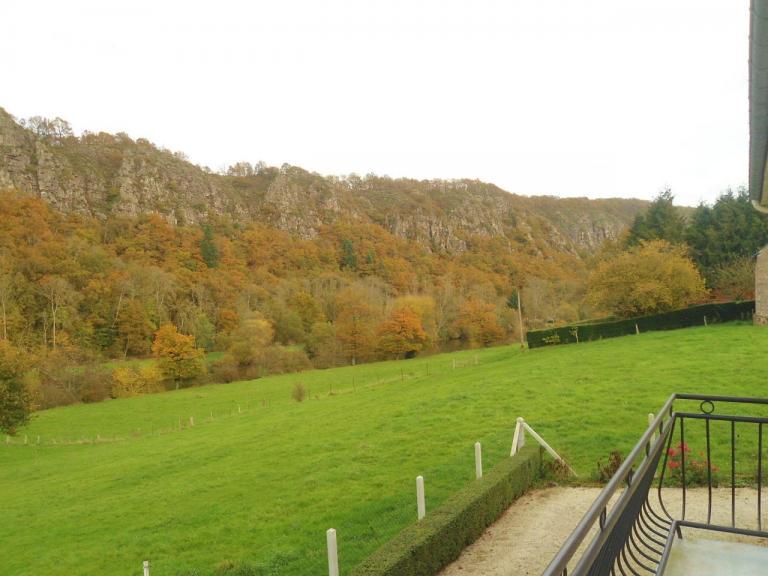 Vue du balcon en automne